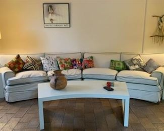 2 piece sectional sofa, down,  with slipcover,12'