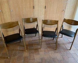 (4) Mid -C Coronet Wonderfold chairs