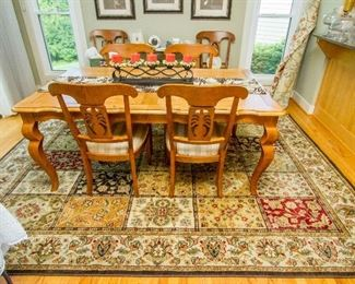 """Ethan Allen """"Legacy"""" Dining Table w/6 Chairs"""