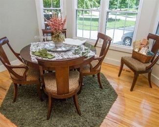 "Ethan Allen ""Medallion"" Cherry Dining Set w/6 Chairs"