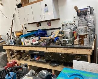 Electric motors, ice maker, lots of tools