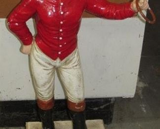 Cast Iron Jockey - Advertising James Brown Saddlery