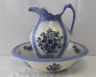 Porcelain Pitcher & Wash Basin Set