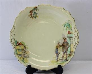 "J&G Meakin Sunshine ""David Copperfield"" Plate"