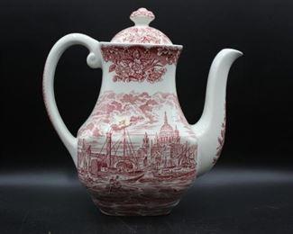 Vintage Enoch Wedgwood Red Coffee/Tea Pot