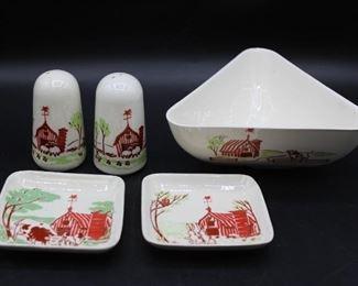 1950s Carter Hoffman Ceramic Serve ware