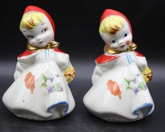 Hull Pottery Little Red Riding Hood Large Salt & Pepper Shakers