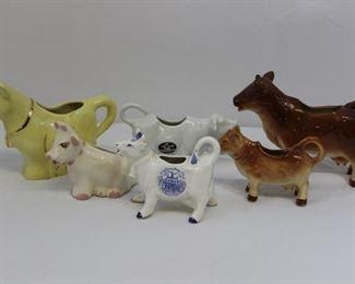 SIX vintage Milk Cows