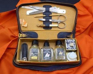 GENUINE LEATHER Vintage Cutex Club Kit!