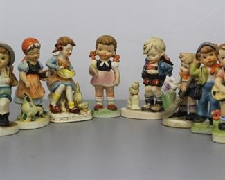 Vintage Grouping of Vintage Japanese Hummel's Mixed Lot of 8