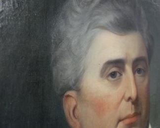 Large Antique Oil Painting/Portrait of a Gentleman Circa 19th Century