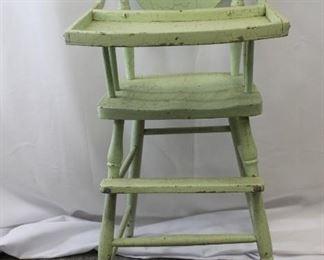 1930s Wooden High Chair