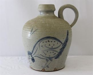 Stoneware Jug w/ Blue Rooster