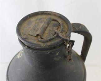 Vintage Metal Rider Dairy Co Milk Jug