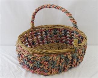 Boho Wicker Basket w/ Handle