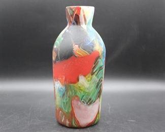 Multi Colored Glass Vase