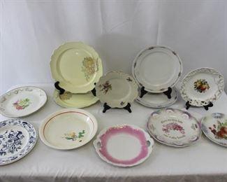 Assorted Vintage Floral Plates