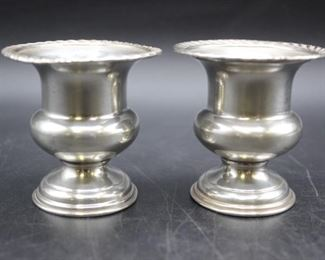 PAIR vintage sterling silver P.S. Co. toothpick/matchstick holders
