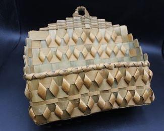 Eastern Native American split/woven basket