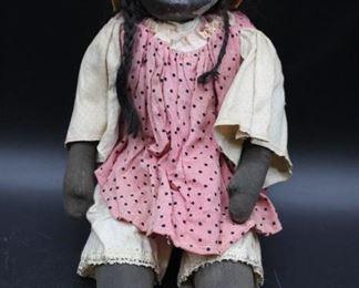 Primitive African American Folk Art Doll