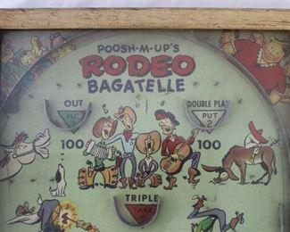 Vintage Poosh-M-Up Rodeo Bagatelle Pinball Game