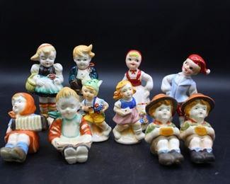 Vintage European Children Salt & Pepper Shakers