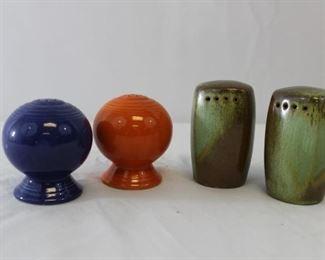 Vintage Tappan, Avon Fiesta ware glass & ceramic Salt & Pepper shakers