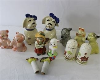 Vintage Vantellingen & Animal porcelain salt & pepper shakers