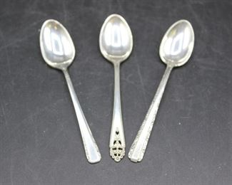 Sterling Mini Spoons, Condiment Bowl, Nut Dish