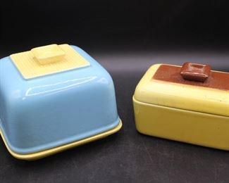 Retro Covered Ceramic Dishes