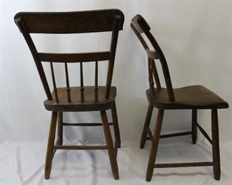 Set of Antique Wooden Chairs