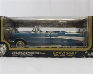 Road Tough 1957 Chevrolet Bel Air Die Cast Metal 1:18 scale model car in original box