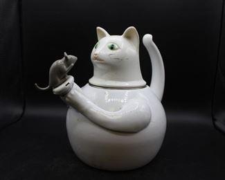 1980s Copco Cat & Mouse tea kettle