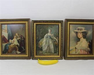 Vintage Rococco Art framed prints
