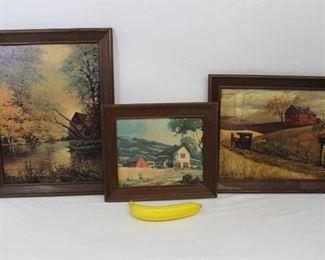Vintage Country Life Framed Art Prints