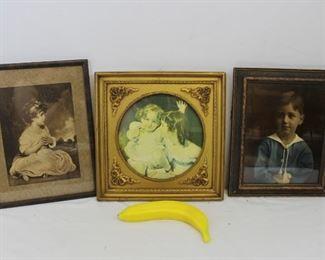 Vintage Victorian Children Framed Wall Art
