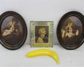 Vintage Victorian Cherub Framed Wall Art