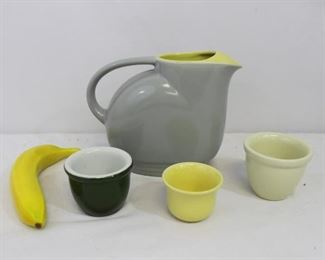 Vintage Hall for General Electric Ceramic Pitcher & Cups