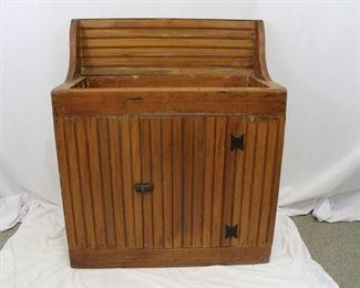 Vintage Wood Dry Sink with Underneath Storage