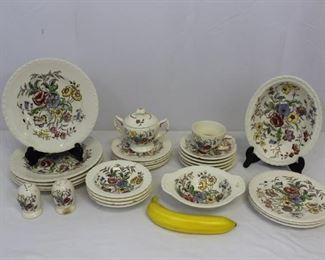Vintage Mayflower Hand Painted Floral China Set
