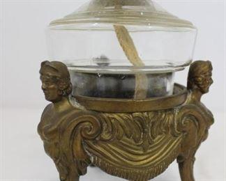 Trio Unique Antique Oil Lamps