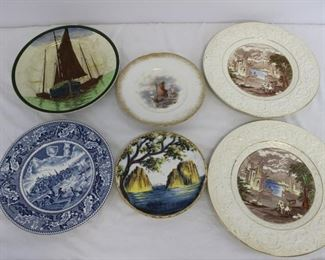 Lot of 6 Vintage Fishing/Island/Far-A-Way Places Plates