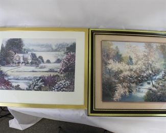 Two framed impressionistic beauty prints