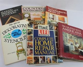 Assortment of Books on Woodworking, Home Repair & Decor