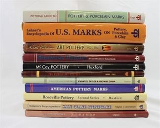 Assortment of Books on Collectible Pottery & Stoneware