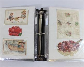 Binder Collection of Vintage Valentines Day Cards