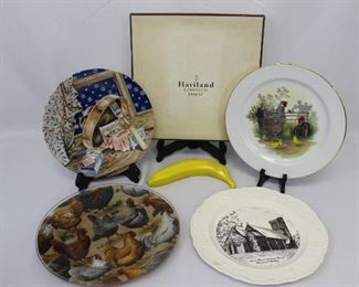 Assortment of Decorative Plates Including Limoges