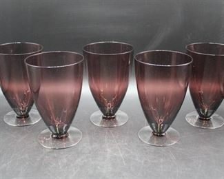 Purple Glass Water Goblets