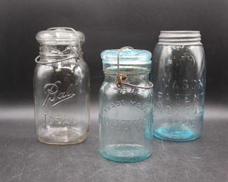 Antique Putnam Jar & Mason Jars