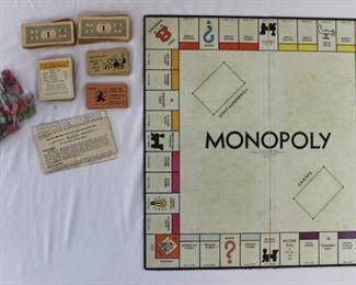 1960s Monopoly Game Set